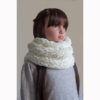 snood blanc touché velours pour fille