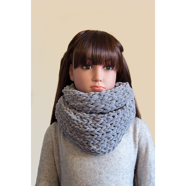 snood gris oversize