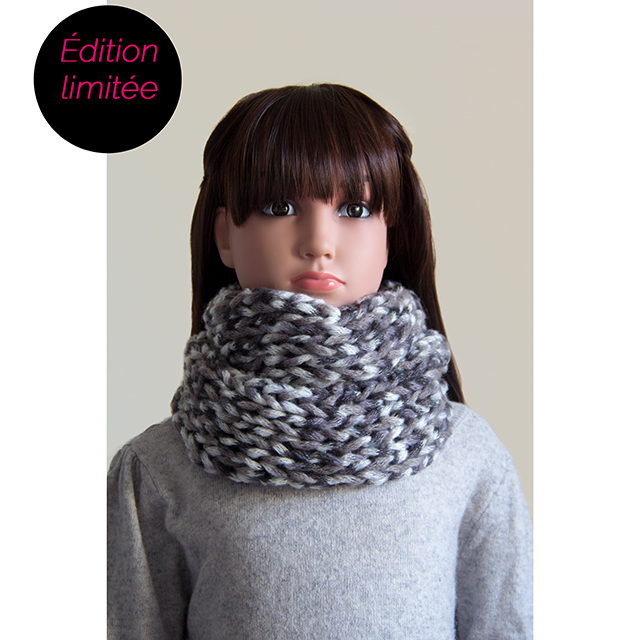 Snood gris chiné