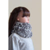 Snood gris chiné fille
