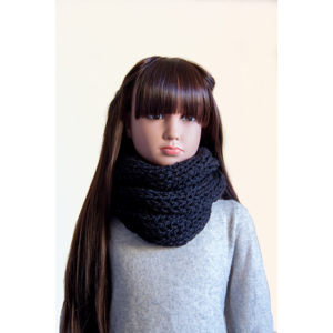 Snood noir oversize