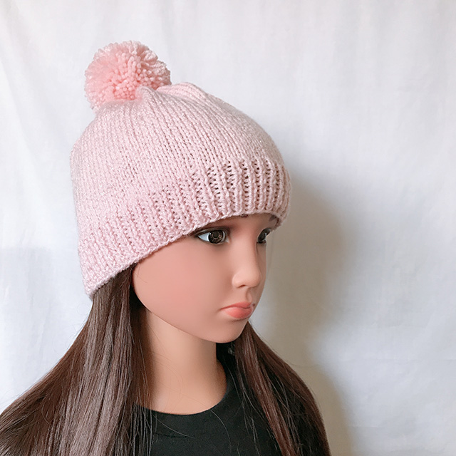 bonnet rose brillant fille